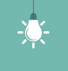 lamp sign concept icon creative idea vector image