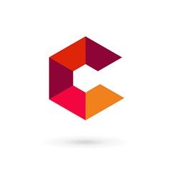 Letter C mosaic logo icon design template elements vector image