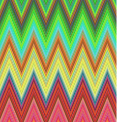 Multicolored zig zag stripe pattern background vector
