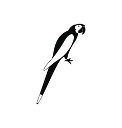Orange brazil parrot icon simple style vector image