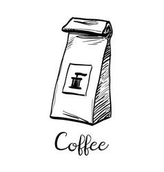 Package of coffee vector