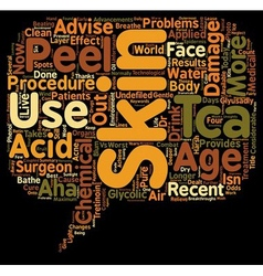 Peel your skin problems away text background vector