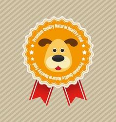 Pet shop label vector image