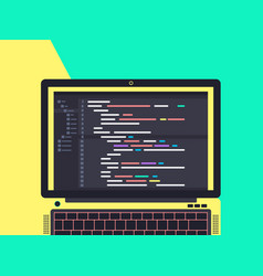 Programming and coding concept vector