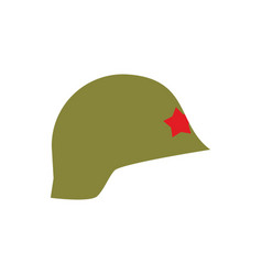 Retro military helmet isolated vintage army cap vector