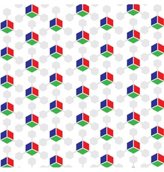 RGB Colored 3D Cube patterned background vector image vector image