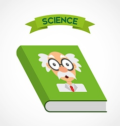 Science book vector