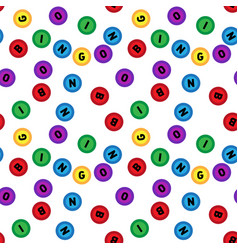 Seamless lotto pattern isolated on white vector