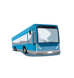 Shuttle coach bus retro vector