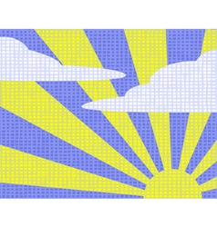 sunny sky vector image vector image