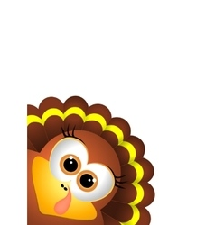 Thanksgiving turkey on white backgroud vector image