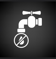 Water faucet with dropping water icon vector