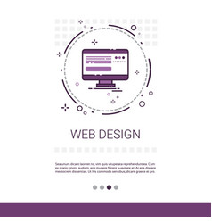 Web design software development computer vector