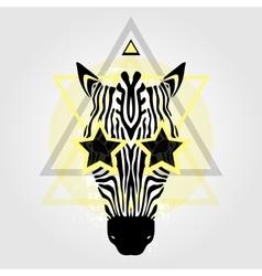 Zebra head tribal pattern vector