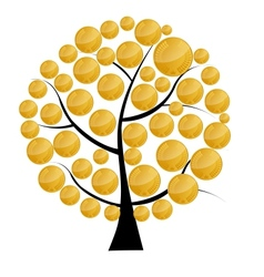 A money tree with coins vector