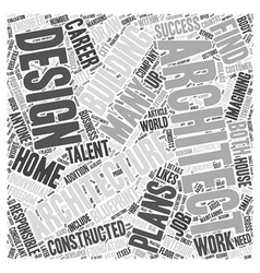 Finding a career in architecture word cloud vector