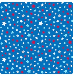 Cute pattern for kids - bright stars on clear sky vector image