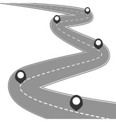 Car road street highway vector image