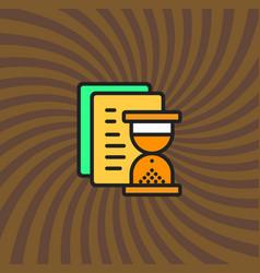 document loading icon simple line cartoon vector image