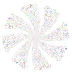 clock fireworks swirl flower vector image