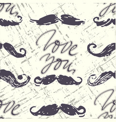 ink hand drawn seamless pattern in retro style vector image