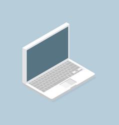 Laptop isometric icon vector