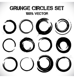 Set of grunge circles vector image