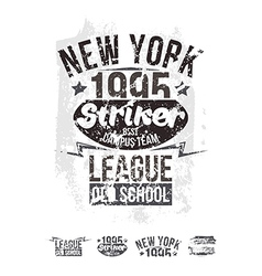 College new york team rugby retro emblem vector