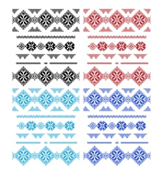Set of laces isolated over white vector