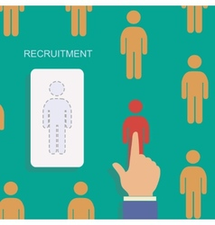 Human resource and recruitment modern concept hand vector