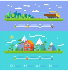 Ecology infographic elements flat design vector