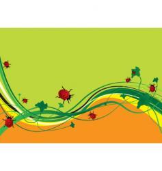 ladybird field vector image