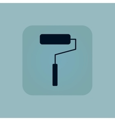 Pale blue paint roller icon vector