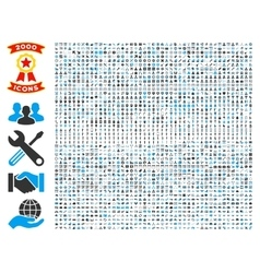Collection of 2000 flat icons vector