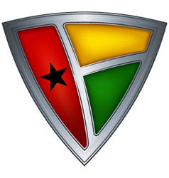 Steel shield guinea-bissau vector
