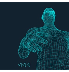 Man 3d model of man human body model vector