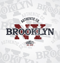 New york varsity theme vector