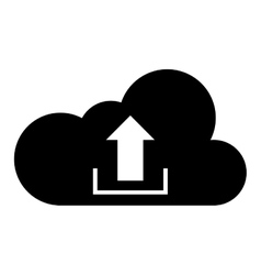 Cloud with upload arrow icon vector