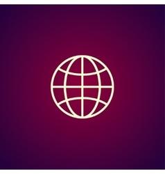 World globe icon pictogram icon vector