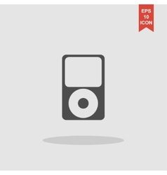 Portable media player icon flat design style vector