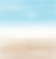 Abstract beach landscape in watercolor 2605 vector