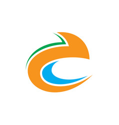abstract swirl arrow logo vector image vector image