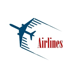 Airlines emblem or icon vector image vector image