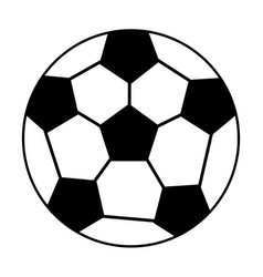 ball soccer sport equipment outline vector image vector image