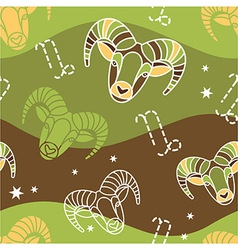 Capricorn - Zodiac seamless pattern vector image vector image