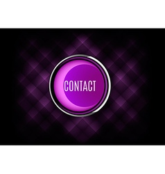 Contact Button vector image vector image