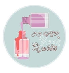 cover nails vector image
