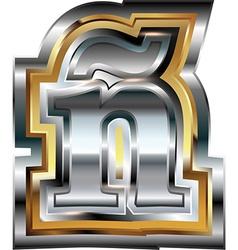 Fancy font Letter vector image
