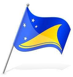 Flag of tokelauan vector