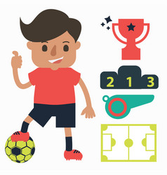 Football player with equipment vector